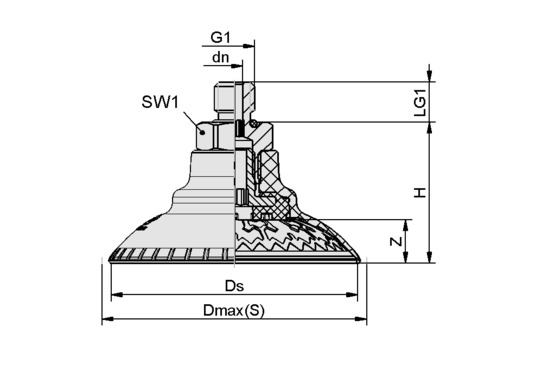 SAXM 115 ED-85 G3/8-AG