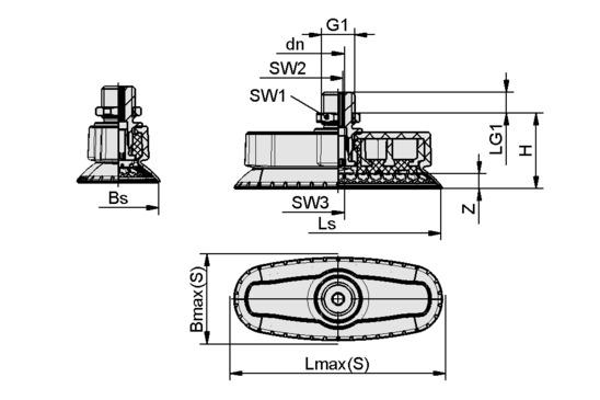 SAOXM 60x20 ED-85 M14x1.5-AG