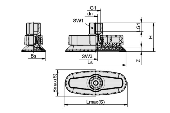 SAOXM 100x40 ED-85 NPT3/8-IG
