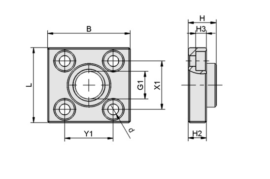 BEF-PL 31x34x11.5 G1/4-IG SNG