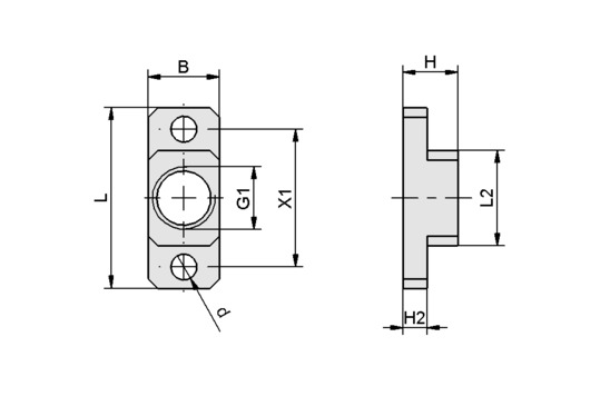 BEF-PL 38x15x11.5 G1/4-IG SNG