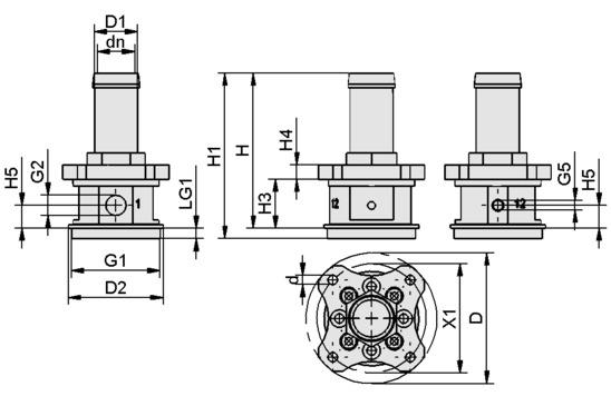 SCG 1xE100 A MA AR M37x1-AG