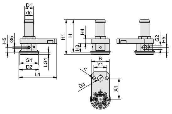 SCG 1xE100 A MS AR M37x1-AG