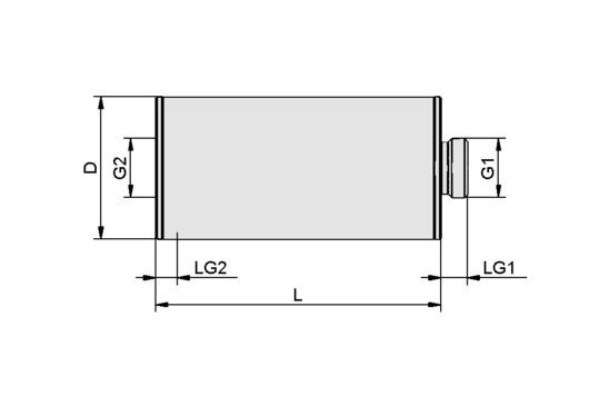 SD G3/8-AG 40x80 SCG