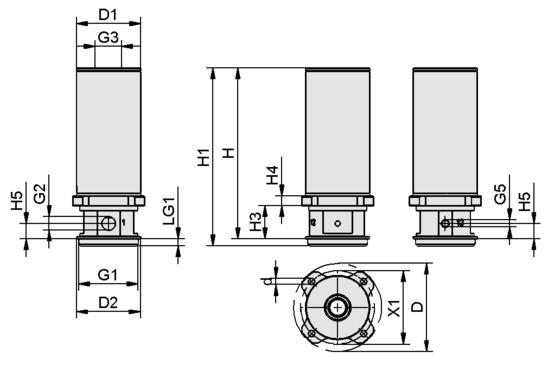 SCG 1xE100 A MA SDA M37x1-AG