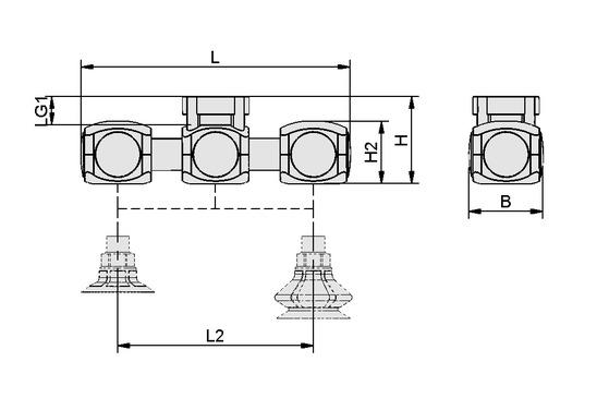 VEE 2xSPB1/SPF 154.3x42.3