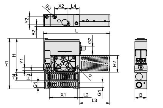 SXPi 25 NO H 2xM12-5