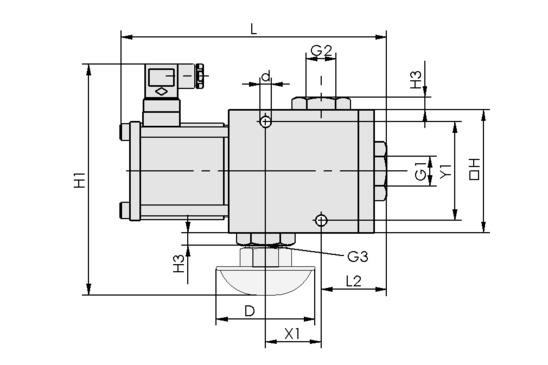 EMVO 20 230V-AC 3/2 NC