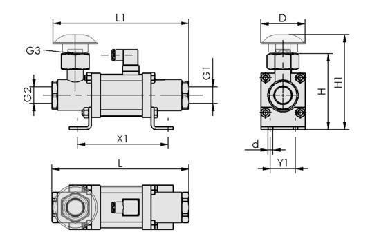 EMV 25 230V-AC 3/2 NO
