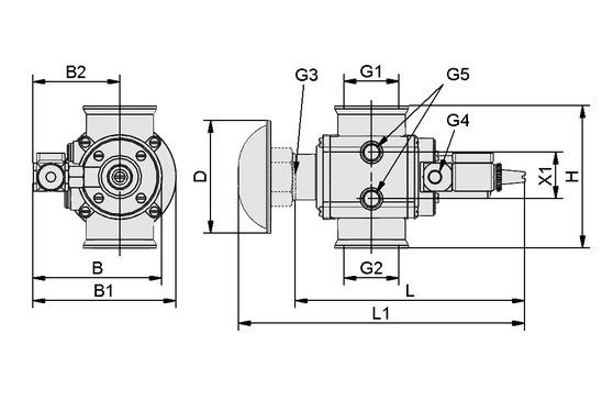 EMVP 50 230V-AC 3/2 NO