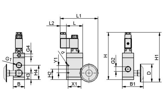 EMVP 10 230V-AC 3/2 NO/NC