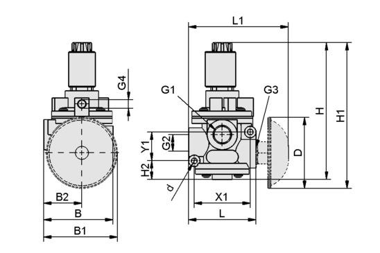 EMVP 15 230V-AC 3/2 NO/NC