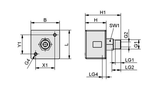 VAM-D 30x30 VP10 G1/8-AG