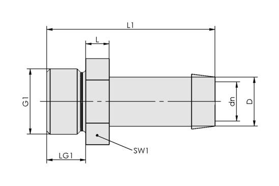 ST G3/4-AG 25 MS-V