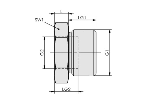 RED-STK G1/2-AG G1/4-IG MS-V