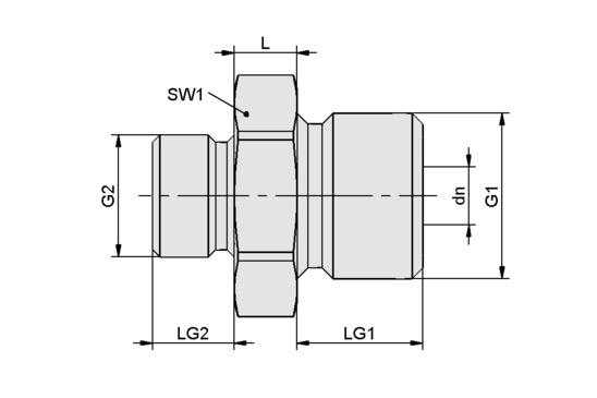 RED-NIP-S G3/8-AG G1/4-AG MS V
