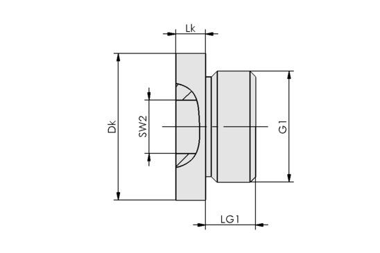 VRS-SB G3/8-AG ISKT O-Ring
