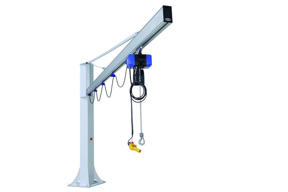 Column-Mounted Jib Cranes with Chain Hoist Online